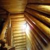 двухэтажный сруб 2-й этаж лестница